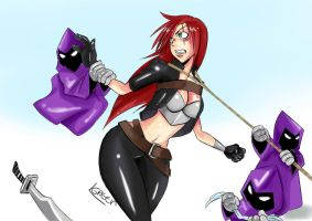Mercenary Minions: The capture of Katarina 1 by GreenLeona