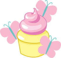 Fluttershy Cupcake by ShadowFoxGraphics