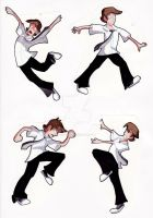 Chuck Bartowski Action Poses by animegirl43