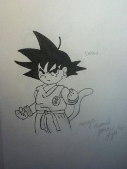 Young Goku from Dragonball by makaylapyle