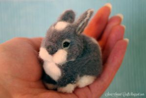 Grey bunny by SaniAmaniCrafts