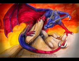Rising fire - Collab commish by Grypwolf