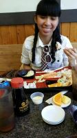 I'm eating Japanese sushi meal for lunch time 1 by Magic-Kristina-KW