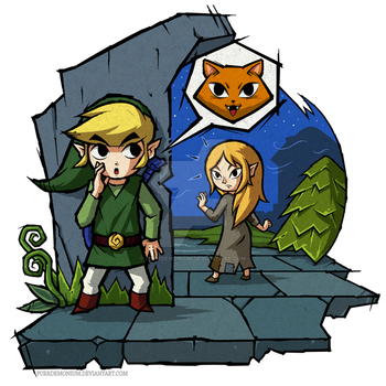 The Wind Waker: Meow by Purrdemonium