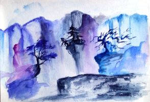 Indigo Mountains by cemerald