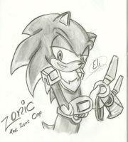 shading practice - Zonic the Zone Cop by EliHedgie95
