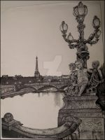Scenes on the River Seine -WIP by thelinesthattied