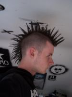 My Mohawk Up by Blinding-Sun