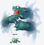 PokeFusion - Squirter by Pseudo-Strawberry