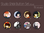 [Buttons] Studio Ghibli by kittyalyst