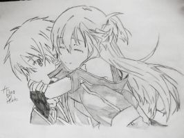 Kirito and Asuna - Love Forever ! Drawing by CaptainMisuzu