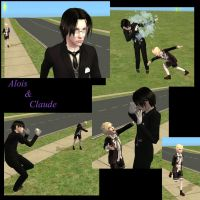 Alois and Claude as Sims by voxor