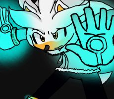 Silver the hedgehog by Flowers012