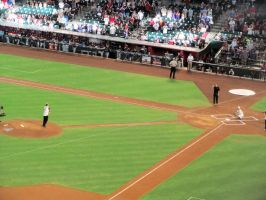 Bob Brenly Throwing out First Pitch by BigMac1212