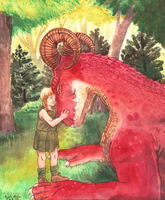 A Girl and Her Dragon by SailingBreezes