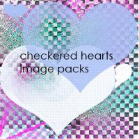 checkered hearts image pack by Gibmee