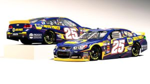 Fictional Chase Elliott #25 NAPA Chevy by Driggers