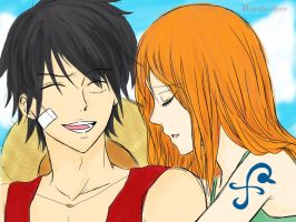 A Moment With You - Luffy x Nami by Hareta-chan