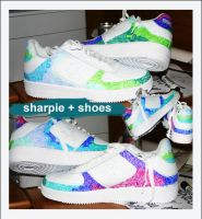 sharpie and shoes by astrolust