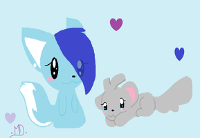 Blue And Cuddles by dreamer-the-wolf-3