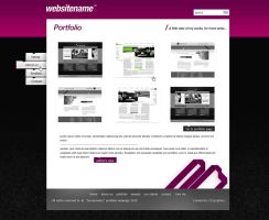 Portfolio website design by Gwstyle