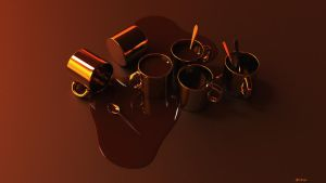 Spilled Coffee Wallpaper 1080p by kahvi