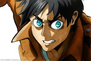 Eren- Attack On Titan by Hidden-Treasury