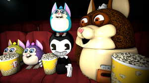 Bendy And The Tattletails At The Movies by Clawort-Animations