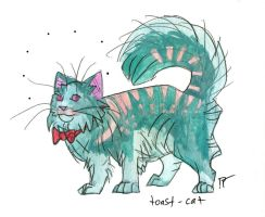 dark seafoam fancy cat by HiddenStash