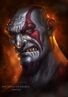 GHOST OF SPARTA (kratos) by huzzain