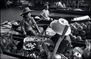 Floating market by ESafian