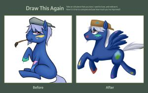 Brony avatar Before n After by Mr-Samson