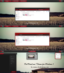 Red Black mn Theme For Windows 7 by cu88