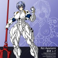 Rei Ayanami Colored by Fersax