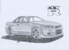 Nissan Skyline by Drawer88