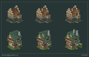 Buildings for game. Part 3 by Jonik9i
