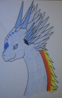 Brisinga dragon close up 2 by Wolfie-Freya