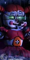 Circus Baby Render by GaboCOart