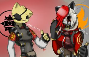 Demo-Katia and Pyro-Ada by Sonicw555