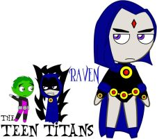 The Teen Titans - Raven by Beaks
