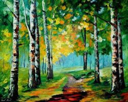 September Mood by Leonid Afremov by Leonidafremov
