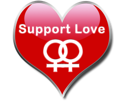 Support Love - Lesbian by Grave-Robber-Jess