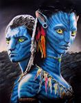 Avatar - Neytiri and Jake by amberj8