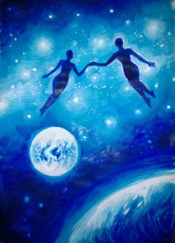 Soulmates in the universe by CORinAZONe