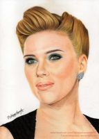 Scarlett Johansson - Colour Pencils by FabianaAzevedo
