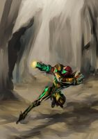 Daily Sketch: Samus Aran by Mephmmb