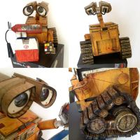 wall-e papercraft details by ikarusmedia