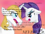 An average day in the love life of Rarity by some-pegasister