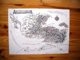 Transscripted native language map of Athil'oria by Feivelyn