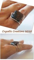 Pietersite wirewrapped Ring by CrysallisCreations